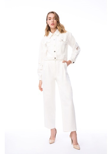 GIZIA Ceket Beyaz